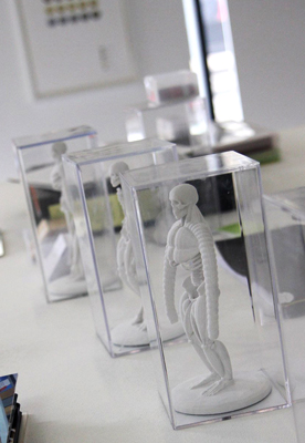 3D print of human hybrid skeleton at D&AD exhibition