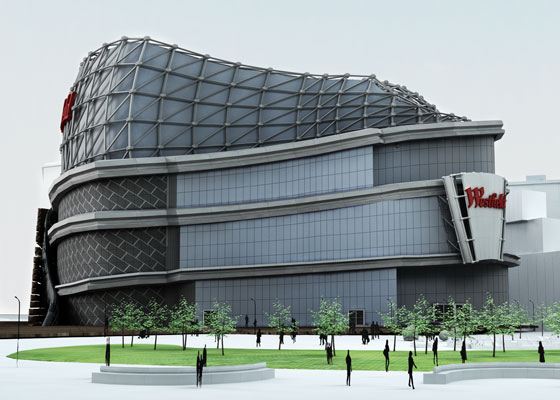 Westfield shopping centre rendering